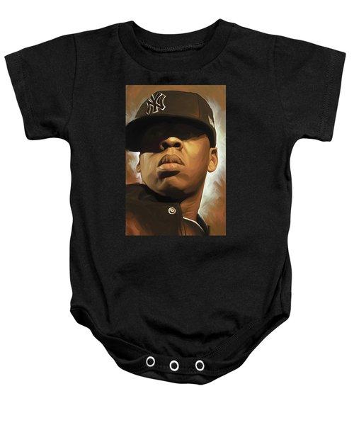Jay-z Artwork Baby Onesie by Sheraz A