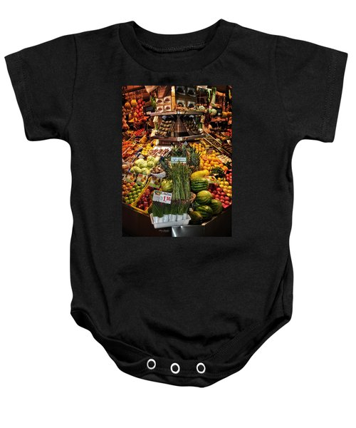 Jewels From The Market  Baby Onesie by Mary Machare