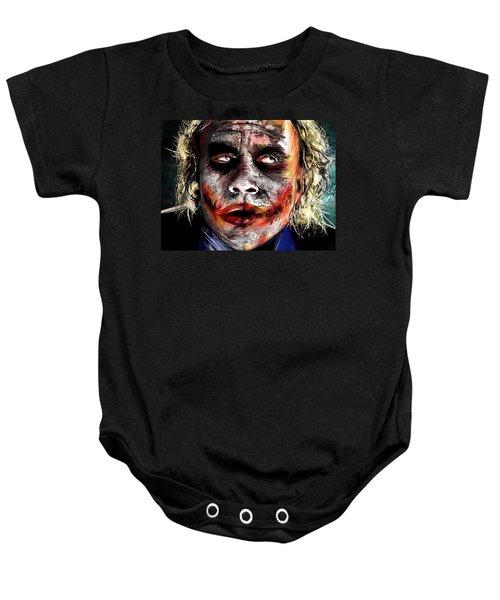Joker Painting Baby Onesie by Daniel Janda