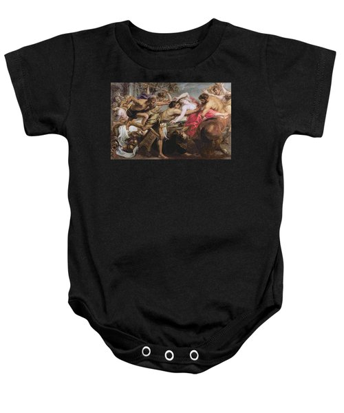 Lapiths And Centaurs Oil On Canvas Baby Onesie by Peter Paul Rubens