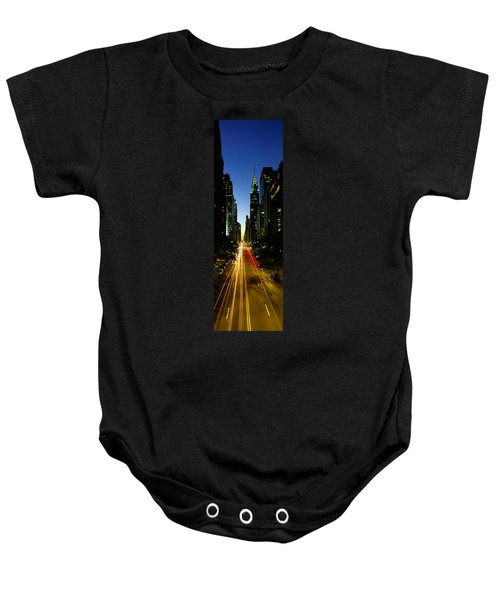 Lexington Avenue, Cityscape, Nyc, New Baby Onesie by Panoramic Images