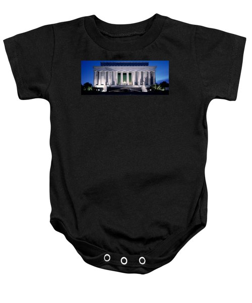 Lincoln Memorial At Dusk, Washington Baby Onesie by Panoramic Images