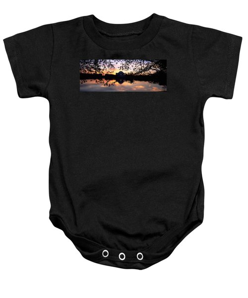 Memorial At The Waterfront, Jefferson Baby Onesie by Panoramic Images