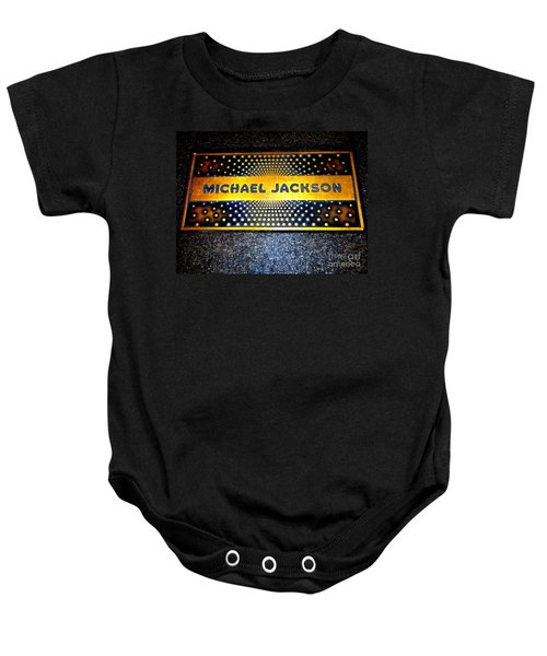 Michael Jackson Apollo Walk Of Fame Baby Onesie by Ed Weidman
