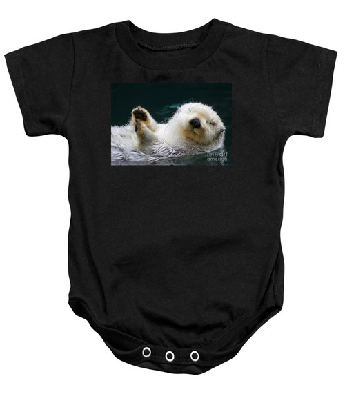 Napping On The Water Baby Onesie by Mike  Dawson