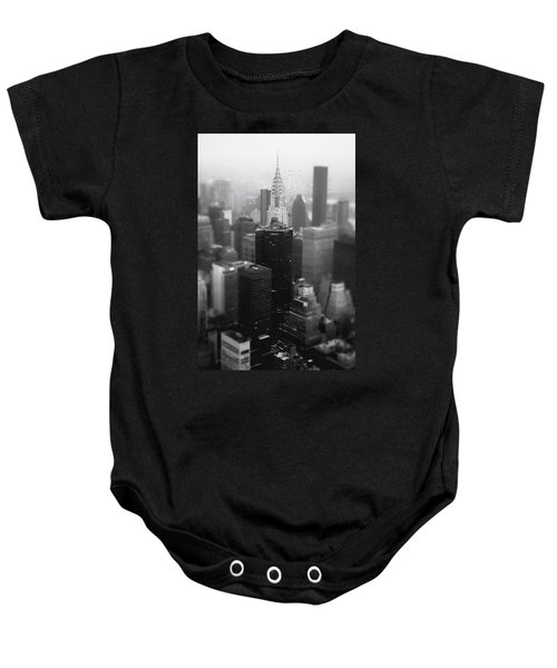New York City - Fog And The Chrysler Building Baby Onesie by Vivienne Gucwa