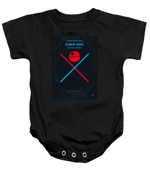 No154 My Star Wars Episode Iv A New Hope Minimal Movie Poster Baby Onesie by Chungkong Art