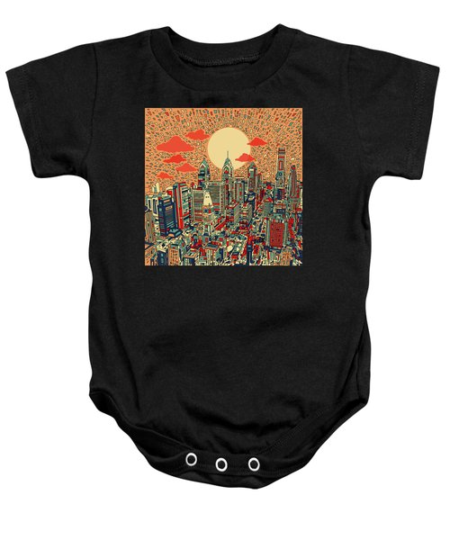 Philadelphia Dream Baby Onesie by Bekim Art