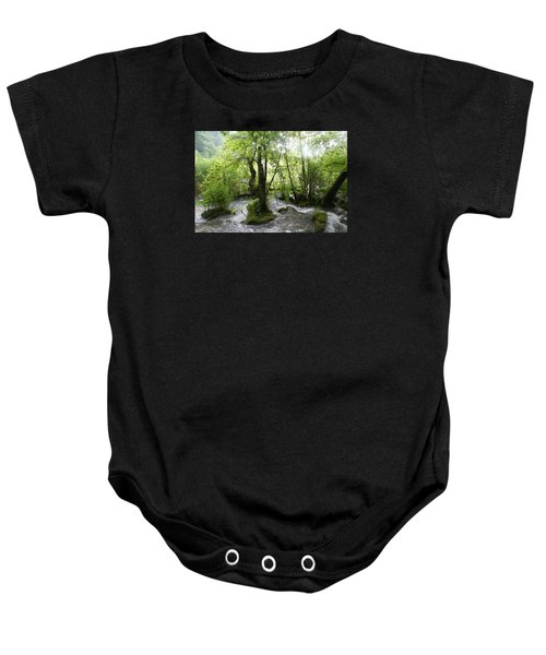 Baby Onesie featuring the photograph Plitvice Lakes by Travel Pics