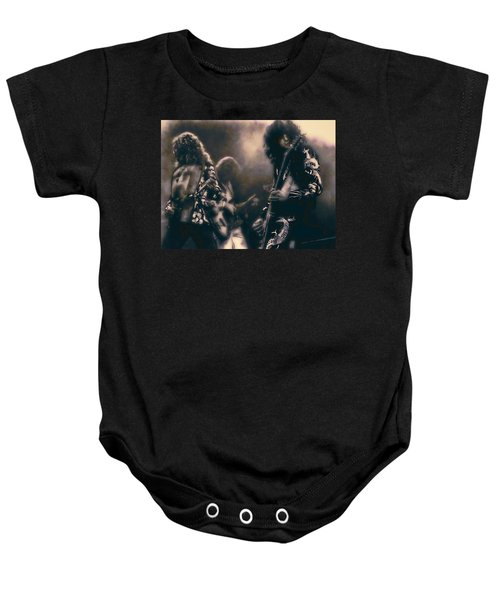 Raw Energy Of Led Zeppelin Baby Onesie by Daniel Hagerman