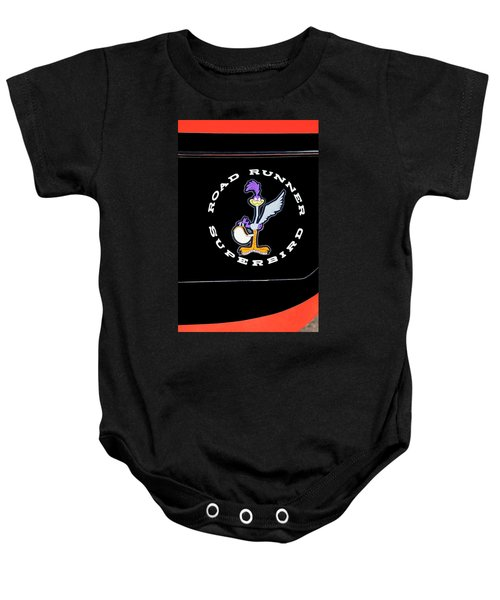 Road Runner Superbird Emblem Baby Onesie by Jill Reger