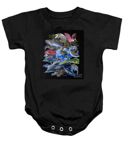 Save Our Seas In008 Baby Onesie by Carey Chen