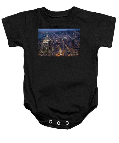Seattle Urban Details Baby Onesie by Mike Reid