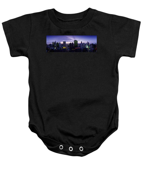 Skyscrapers, Chicago, Illinois, Usa Baby Onesie by Panoramic Images