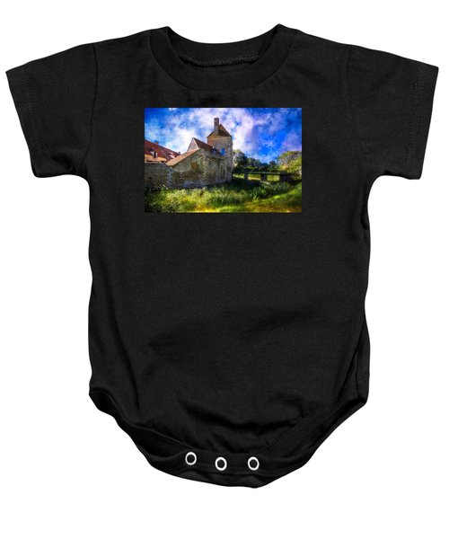 Spring Romance In The French Countryside Baby Onesie by Debra and Dave Vanderlaan