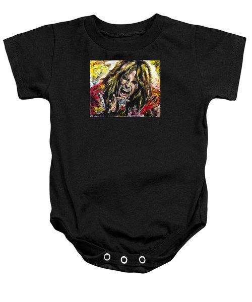 Steven Tyler Baby Onesie by Mark Courage