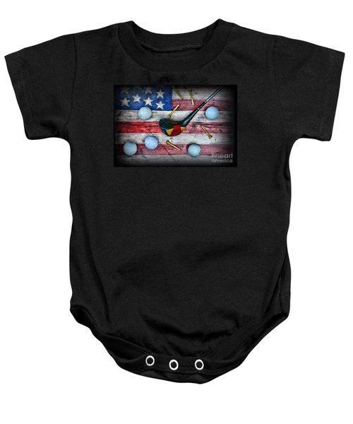 The All American Golfer Baby Onesie by Paul Ward