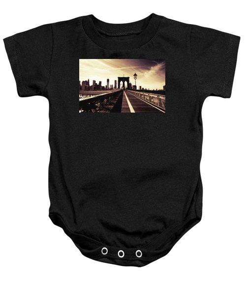 The Brooklyn Bridge - New York City Baby Onesie by Vivienne Gucwa
