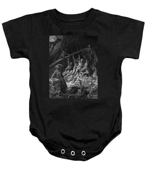 The Dead Sailors Rise Up And Start To Work The Ropes Of The Ship So That It Begins To Move Baby Onesie by Gustave Dore