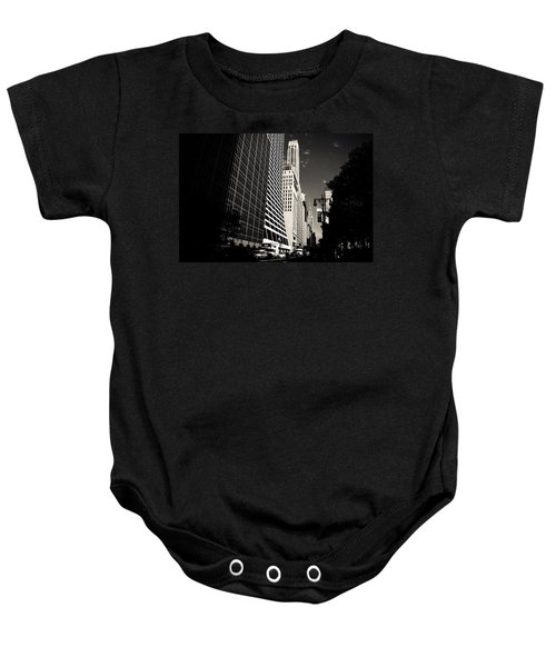 The Grace Building And The Chrysler Building - New York City Baby Onesie by Vivienne Gucwa