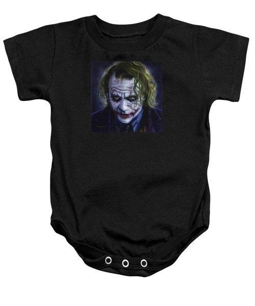 The Joker Baby Onesie by Tim  Scoggins
