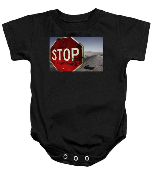 This Is Bat Country Baby Onesie by Nicklas Gustafsson