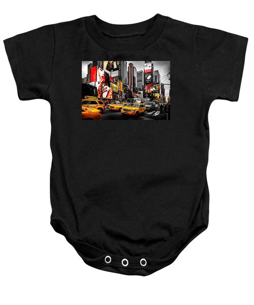 Times Square Taxis Baby Onesie by Az Jackson