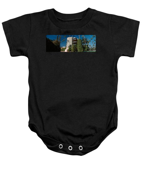 Trees In Front Of A Hotel, Beverly Baby Onesie by Panoramic Images