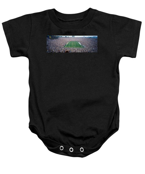 University Of Michigan Football Game Baby Onesie by Panoramic Images