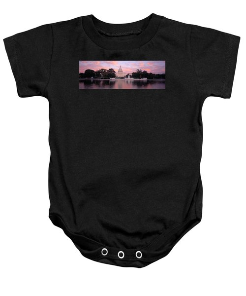 Us Capitol Washington Dc Baby Onesie by Panoramic Images