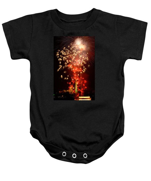 Usa, Washington Dc, Fireworks Baby Onesie by Panoramic Images