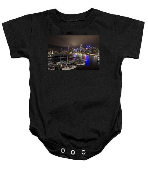 Darling Harbor Sydney Skyline 2 Baby Onesie by Douglas Barnard