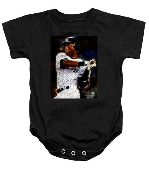 Derek Jeter New York Yankee Baby Onesie by Paul Ward