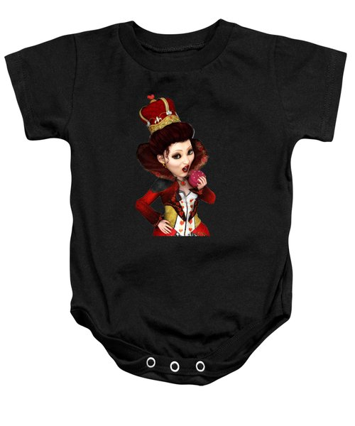 Queen Of Hearts Portrait Baby Onesie by Methune Hively