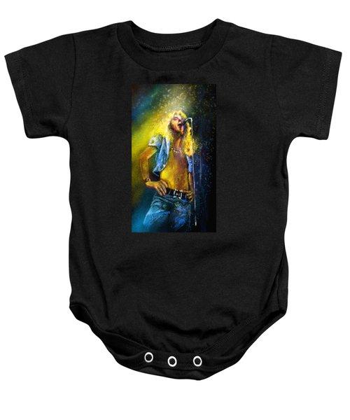 Robert Plant 01 Baby Onesie by Miki De Goodaboom