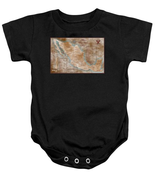 Mexico Surf Map  Baby Onesie by Lucan Hirales