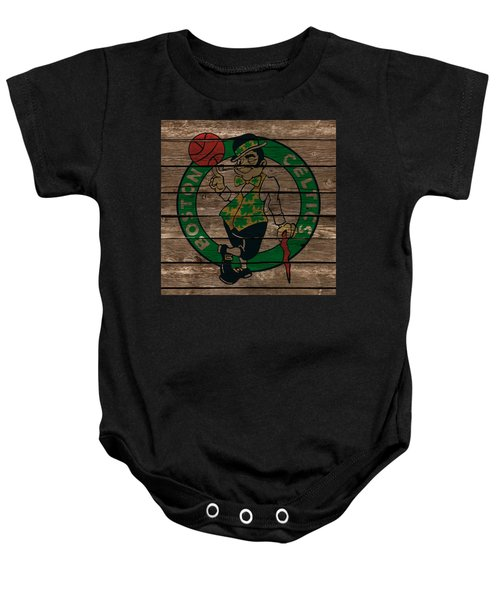 The Boston Celtics 1e Baby Onesie by Brian Reaves