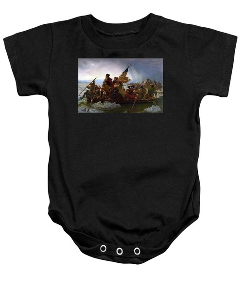 Washington Crossing The Delaware Baby Onesie by Emanuel Leutze
