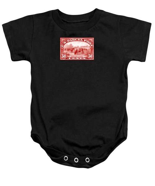 1913 Dairy Industry Stamp Baby Onesie by Historic Image