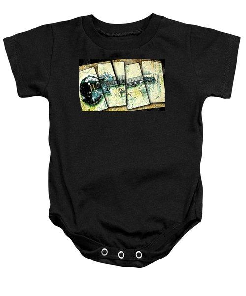1955 Les Paul Custom Black Beauty V2 Baby Onesie by Gary Bodnar