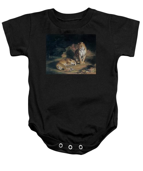 A Pair Of Leopards Baby Onesie by William Huggins