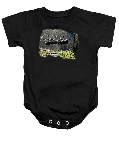 A40 Somerset Car Badge Baby Onesie by Nick Kloepping