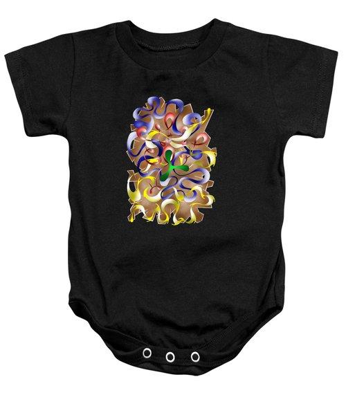 Abstract Digital Art - Jamurina V2 Baby Onesie by Cersatti