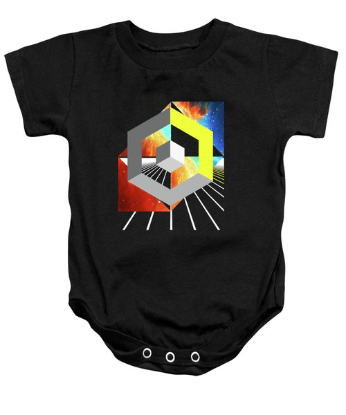 Abstract Space 4 Baby Onesie by Russell K