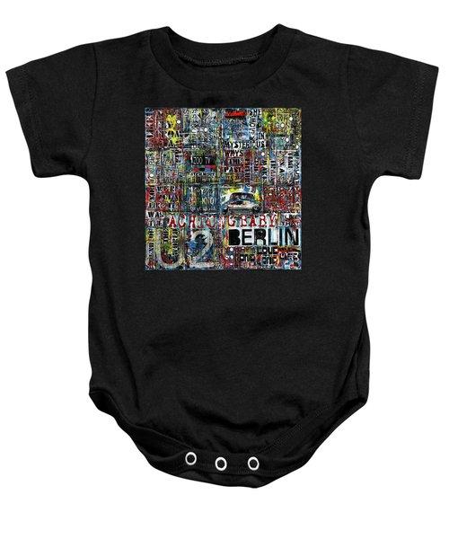 Achtung Baby Baby Onesie by Frank Van Meurs