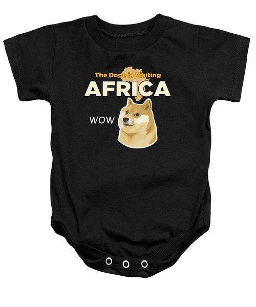 Africa Doge Baby Onesie by Michael Jordan