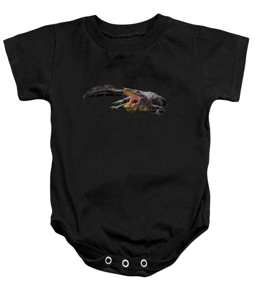 Alligator In Florida Baby Onesie by Zina Stromberg