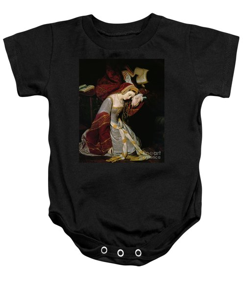 Anne Boleyn In The Tower Baby Onesie by Edouard Cibot