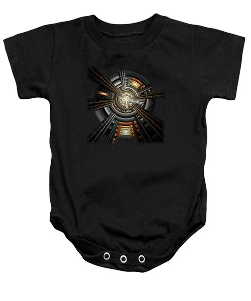 Space Station Baby Onesie by Anastasiya Malakhova
