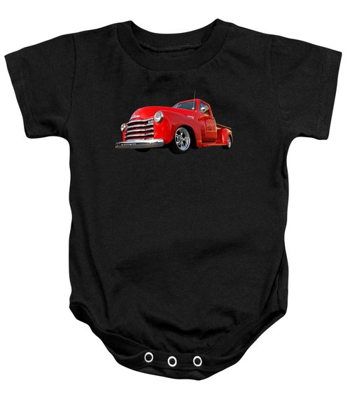 1952 Chevrolet Truck At The Diner Baby Onesie by Gill Billington